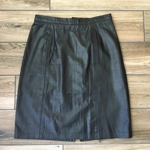 Vintage outerwear by Phoenix black leather skirt
